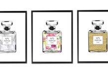 Parfüm Temalı Ücretsiz Tasarım Posterler, Tasarım Posterler, Ücretsiz Posterler, Çerçeve Desenleri, Parfüm Desenli Poster | Neşeli Süs Evim